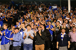 Bristol Rovers fans celebrate at the end of the game as they beat Fulham 0-1 - Mandatory by-line: Dougie Allward/JMP - 22/08/2017 - FOOTBALL - Craven Cottage - Fulham, England - Fulham v Bristol Rovers - Carabao Cup