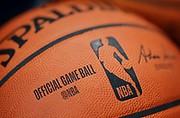 INDIANAPOLIS, IN - MARCH 30: An NBA basketball is seen before the Indiana Pacers and Orlando Magic game at Bankers Life Fieldhouse on March 30, 2019 in Indianapolis, Indiana. NOTE TO USER: User expressly acknowledges and agrees that, by downloading and or using this photograph, User is consenting to the terms and conditions of the Getty Images License Agreement.(Photo by Michael Hickey/Getty Images)