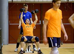 25-04-2013 VOLLEYBAL: NEDERLANDS MANNEN VOLLEYBALTEAM: ROTTERDAM<br /> Selectie Oranje mannen seizoen 2013-2014 / Robin Overbeeke en Ewoud Gommans<br /> &copy;2013-FotoHoogendoorn.nl