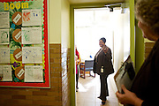 D.C. Public Schools Chancellor Kaya Henderson does a walk-through of Truesdell Education Campus with Principal Mary Ann Stinson, on Friday, Nov. 16, 2012 in Washington, D.C. Henderson recently announced that she plans to close 20 under-enrolled schools across the district. CREDIT: Lexey Swall for The Wall Street Journal