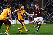 Hearts FC Midfielder Billy King on the attack during the Ladbrokes Scottish Premiership match between Heart of Midlothian and Motherwell at Tynecastle Stadium, Gorgie, Scotland on 16 January 2016. Photo by Craig McAllister.