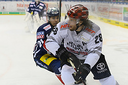 01.03.2019, O2 World, Berlin, GER, DEL, Eisbaeren Berlin vs Koelner Haie, 52. Runde, im Bild v.l. #21 Ortega, Ryan Jones #28 - Haie // during the DEL 52th round match between Eisbaeren Berlin and Koelner Haie at the O2 World in Berlin, Germany on 2019/03/01. EXPA Pictures © 2019, PhotoCredit: EXPA/ Eibner-Pressefoto/ Uwe Koch<br /> <br /> *****ATTENTION - OUT of GER*****