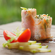 Cabbage, Long Bean, Pepper, Sprout, Wrapped in Rice Paper with Tamarin Dipping Sauce. *special on request