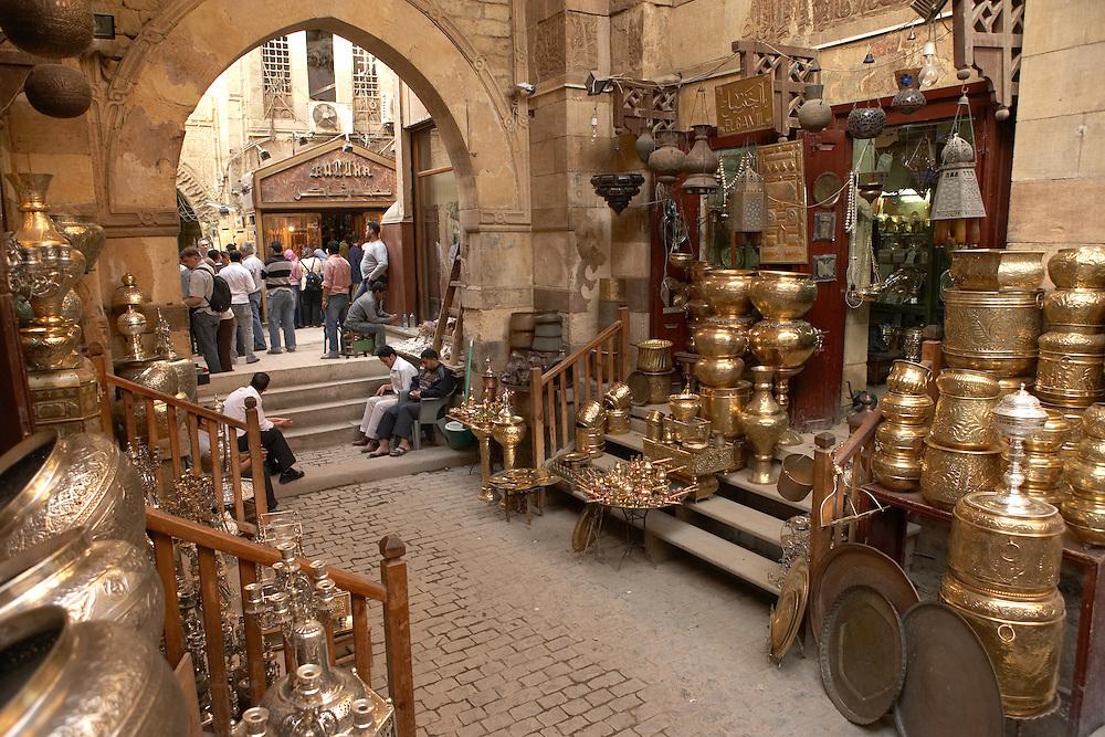 Khan-alKhalili Bazaar in Cairo, Egypt