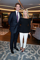 CROWN PRINCE PAVLOS OF GREECE and CROWN PRINCESS MARIE CHANTAL OF GREECE at a reception to launch the range of Dr Lancer beauty products held at The Penthouse, Harrods, Knightsbridge, London on 16th September 2013.