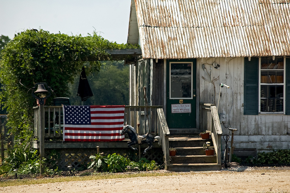 From the road, a view of one of the buildings at Libery Bell Farm in Elmer, NJ.