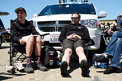 Trek Segafredo mechanics relax before Amgen Tour of California Women's Race empowered with SRAM 2019 - Stage 1, a 96.5 km road race in Ventura, United States on May 16, 2019. Photo by Sean Robinson/velofocus.com