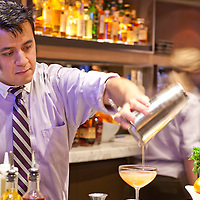 bartender preparing drink at Michael Jordan's Steakhouse - Chicago
