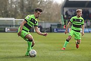 Forest Green Rovers Liam Shephard(2) on the ball during the EFL Sky Bet League 2 match between Forest Green Rovers and Macclesfield Town at the New Lawn, Forest Green, United Kingdom on 13 April 2019.