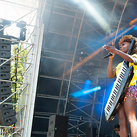 Laura Mvula in concert at Fiesta x FOLD Festival, Kelvingrove Park, Glasgow, Great Britain 1st July, 2018