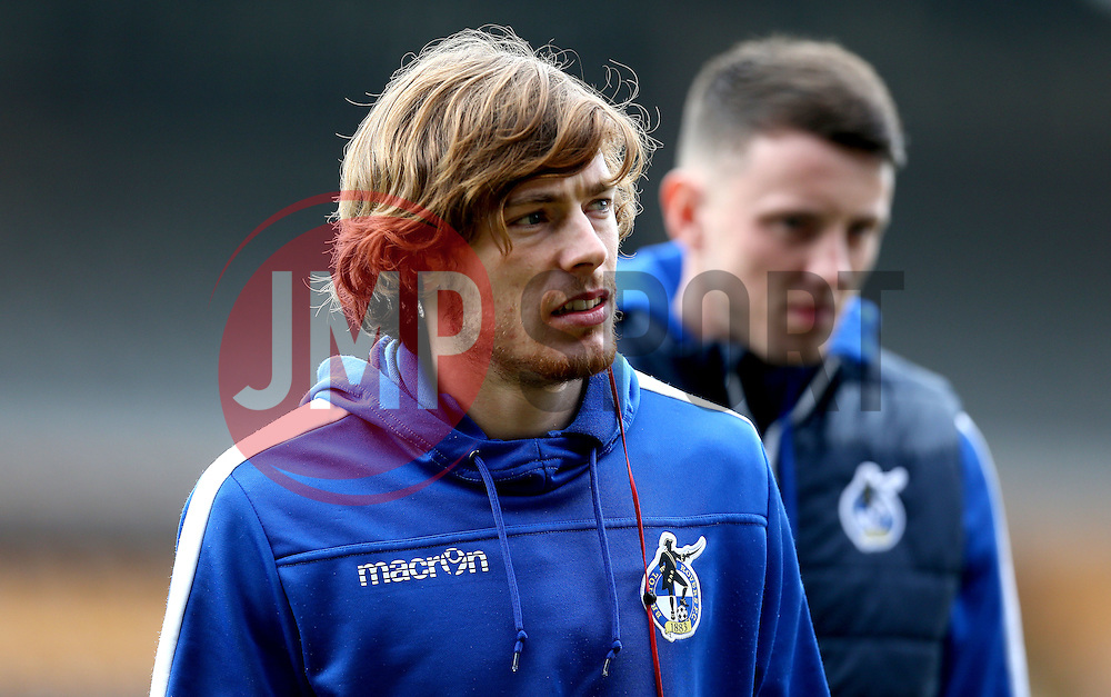 Luke James of Bristol Rovers and Ollie Clarke of Bristol Rovers - Mandatory by-line: Robbie Stephenson/JMP - 18/02/2017 - FOOTBALL - Vale Park - Stoke-on-Trent, England - Port Vale v Bristol Rovers - Sky Bet League One