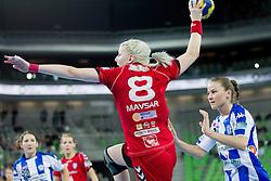 Tamara Mavsar of Krim during handball match between RK Krim Mercator and Buducnost Podgorica (MNE) in season 2011/2012 of EHF Women's Champions League, on February 24, 2012 in Arena Stozice, Ljubljana, Slovenia. (Photo By Vid Ponikvar / Sportida.com)