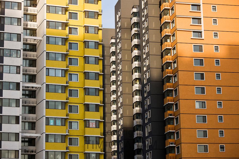 Apartment blocks in Beijing, China