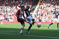 Football - 2017 / 2018 Premier League - Southampton vs. Manchester United<br /> <br /> Southampton's Dusan Tadic has a cross block at St Mary's Stadium Southampton<br /> <br /> COLORSPORT/SHAUN BOGGUST