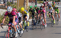Semi-professional cycle racing, San Pedro de Alcantara, Marbella, Malaga, Province, Spain, March 2015. 201503140580<br />