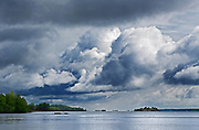 Storm clouds on the St. Lawrence River<br /> Mallorytown Landing<br /> Ontario<br /> Canada