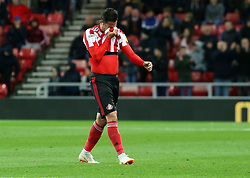 Bryan Oviedo of Sunderland hides his face after being sent off - Mandatory by-line: Joe Dent/JMP - 02/10/2018 - FOOTBALL - Stadium of Light - Sunderland, England - Sunderland v Peterborough United - Sky Bet League One