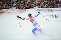 17.12.2011, Saslong, Groeden, ITA, FIS Weltcup Ski Alpin, Herren, Abfahrt, im Bild Adrien Theaux (FRA) // Adrien Theaux of France after men's downhill at FIS Ski Alpine Worldcup at Saslong in Groeden, Italy on 2011/12/17. EXPA Pictures © 2011, PhotoCredit: EXPA/ Erich Spiess