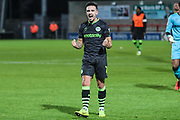 Forest Green Rovers Liam Shephard(2) at the end of the match during the EFL Sky Bet League 2 match between Morecambe and Forest Green Rovers at the Globe Arena, Morecambe, England on 22 October 2019.