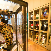 Costumes used for the famous Mannekin Pis statue on display at the Museum of the City of Brussels. The museum is dedicated to the history and folklore of the town of Brussels, its development from its beginnings to today, which it presents through paintings, sculptures, tapistries, engravings, photos and models.