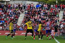 June 4, 2017 - Girona, Spain - Action image during the Spanish championship La Liga 1|2|3 football match between Girona FC vs Zaragoza at Montilivi stadium on June 4, 2017 in Girona, Spain. (Credit Image: © Xavier Bonilla/NurPhoto via ZUMA Press)