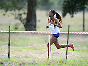 GEORGE, SOUTH AFRICA - SEPTEMBER 10: Liziwe Mabona of Athletics Free State (AFS) in the women's 10km  during the 2016 South African Cross Country Championships held at The Olympia School of Skills in Pacaltsdorp on September 10, 2016 in George, South Africa. (Photo by Roger Sedres/Gallo Images)