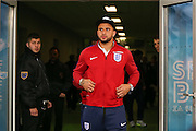 England Defender Kyle Walker during a general stadium walk around before the Slovenia vs England FIFA World Cup Group F Qualifier match at Stadion Stozce, Ljubljana, Slovenia on 10 October 2016. Photo by Phil Duncan.