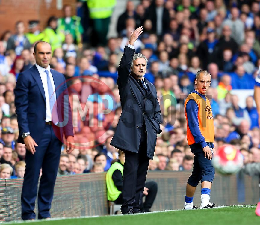 Everton Manager, Roberto Martinez and Chelsea Manager, Jose Mourinho  - Mandatory byline: Matt McNulty/JMP - 07966386802 - 12/09/2015 - FOOTBALL - Goodison Park -Everton,England - Everton v Chelsea - Barclays Premier League