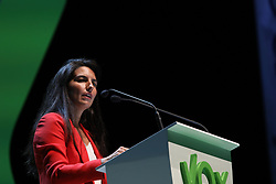 October 7, 2018 - Madrid, Spain - ROCIO MONASTERIO, the president of VOX Madrid, participating in the event. The far-right political party Vox has crowded this Sunday the ''Palacio de Vistalegre'' in a massive event that has attended, according to the organisers, 10,000 people, and in which they have presented their 100 urgent measures for Spain on Oct 7, 2018 in Madrid, Spain (Credit Image: © Jesus Hellin via ZUMA Wire)