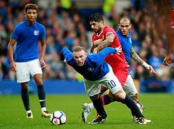 Wayne Rooney of Everton and Ever Banega of Sevilla - Mandatory by-line: Matt McNulty/JMP - 06/08/2017 - FOOTBALL - Goodison Park - Liverpool, England - Everton v Sevilla - Pre-season friendly