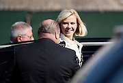 Elizabeth Smart smiles as she leaves federal court after testifying at a competency hearing for her alleged kidnapper, Brian David Mitchell, Oct. 1 2009, in Salt Lake City. (AP Photo/Colin Braley)