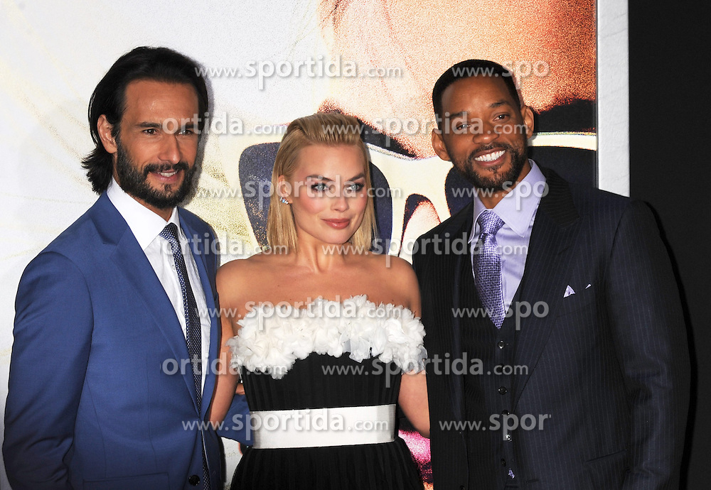 Margot Robbie, Will Smith, Rodrigo Santoro, Warner Bros Pictures presents the Los Angeles World Premiere of 'Focus', at the TCL Chinese Theatre, February 24, 2015 - Hollywood, California. EXPA Pictures &copy; 2015, PhotoCredit: EXPA/ Photoshot/ Celebrity Photo<br /> <br /> *****ATTENTION - for AUT, SLO, CRO, SRB, BIH, MAZ only*****