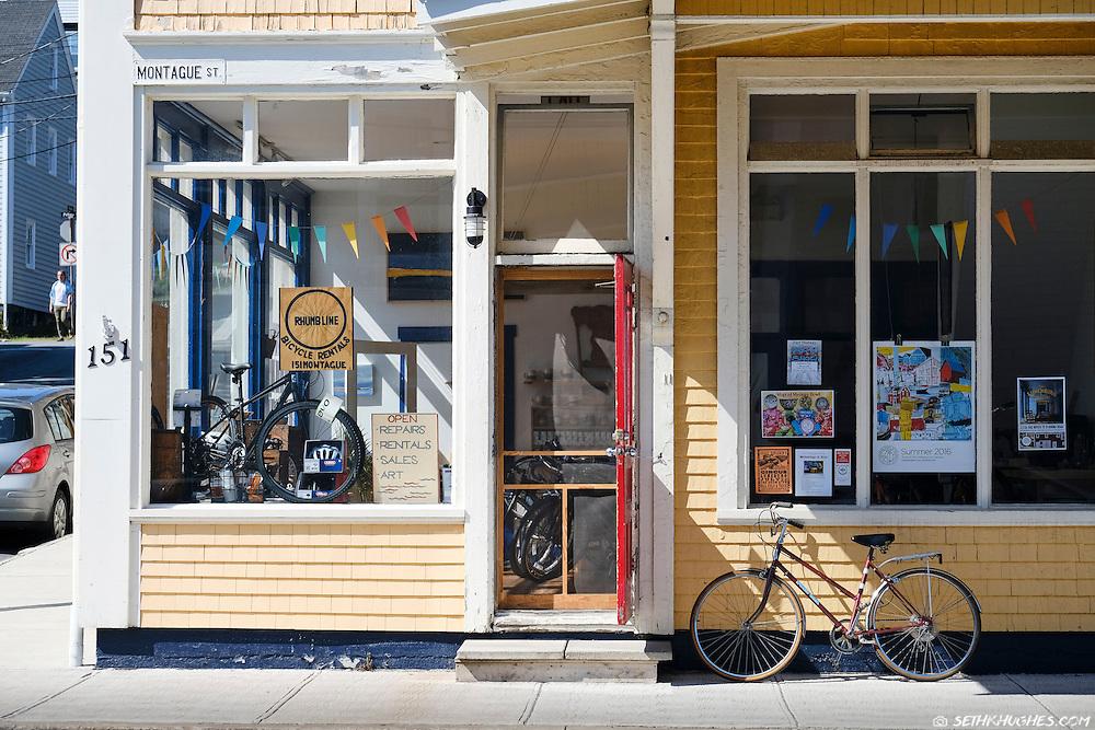 A bicycle shop in Lunenburg, Nova Scotia, Canada