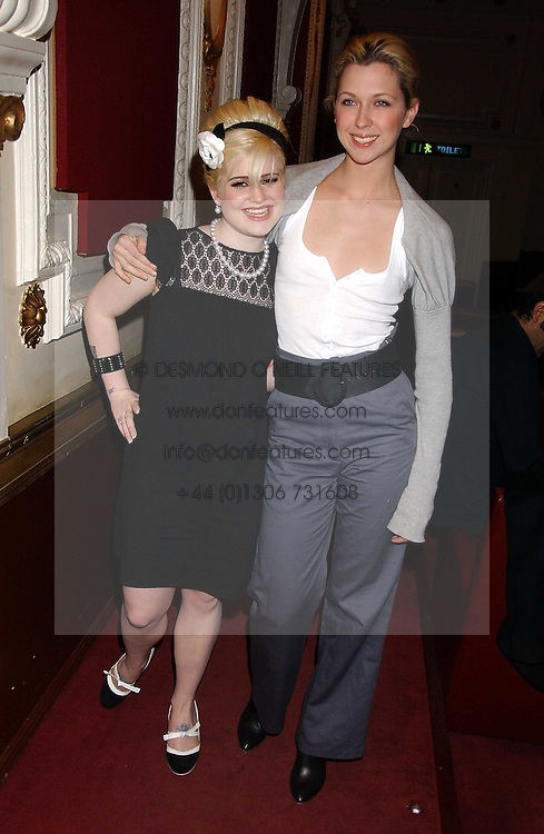 Left to right, KELLY OSBOURNE and MARGO STILLEY at the launch of 'Grand Classics:Films with Style' series in London hosted by Vivienne Westwood at The Electric Cinema, Portobello Road, London W11 on 20th March 2006.<br />