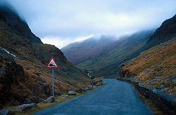 UK ENGLAND CUMBRIA NOV00 - General view of the Honnister Pass in the Lake District.. . jre/Photo by Jiri Rezac. . © Jiri Rezac 2000. . Tel:   +44 (0) 7050 110 417. Email: info@jirirezac.com. Web:   www.jirirezac.com