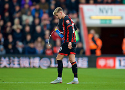 BOURNEMOUTH, ENGLAND - Sunday, November 25, 2018: AFC Bournemouth's David Brooks spits out water during the FA Premier League match between AFC Bournemouth and Arsenal FC at the Vitality Stadium. (Pic by David Rawcliffe/Propaganda)