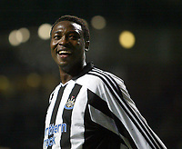 Fotball<br /> UEFA-cup 2004/05<br /> Newcastle v Heerenveen<br /> 24. februar 2005<br /> Foto: Digitalsport<br /> NORWAY ONLY<br /> Newcastle's Shola Ameobi rues a missed opportunity to score his team's third goal
