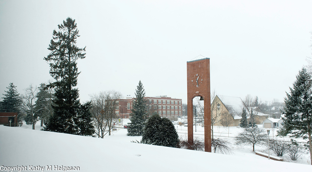 Snow on Campus.February 6, 2013. .Kathy M Helgeson