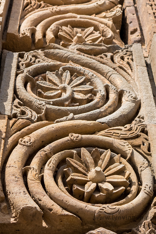 Qutb complex Details from UNESCO site; the Qutb complex.<br /> <br /> Ala'i-Darwaza, the southern gateway of the Quwwat-ul-Islam mosque was constructed by Alau'd-Din Khalji in AH 710 (AD 1311) as recorded in the inscriptions engraved on it. This is the first building employing Islamic principles of construction and ornamentation.