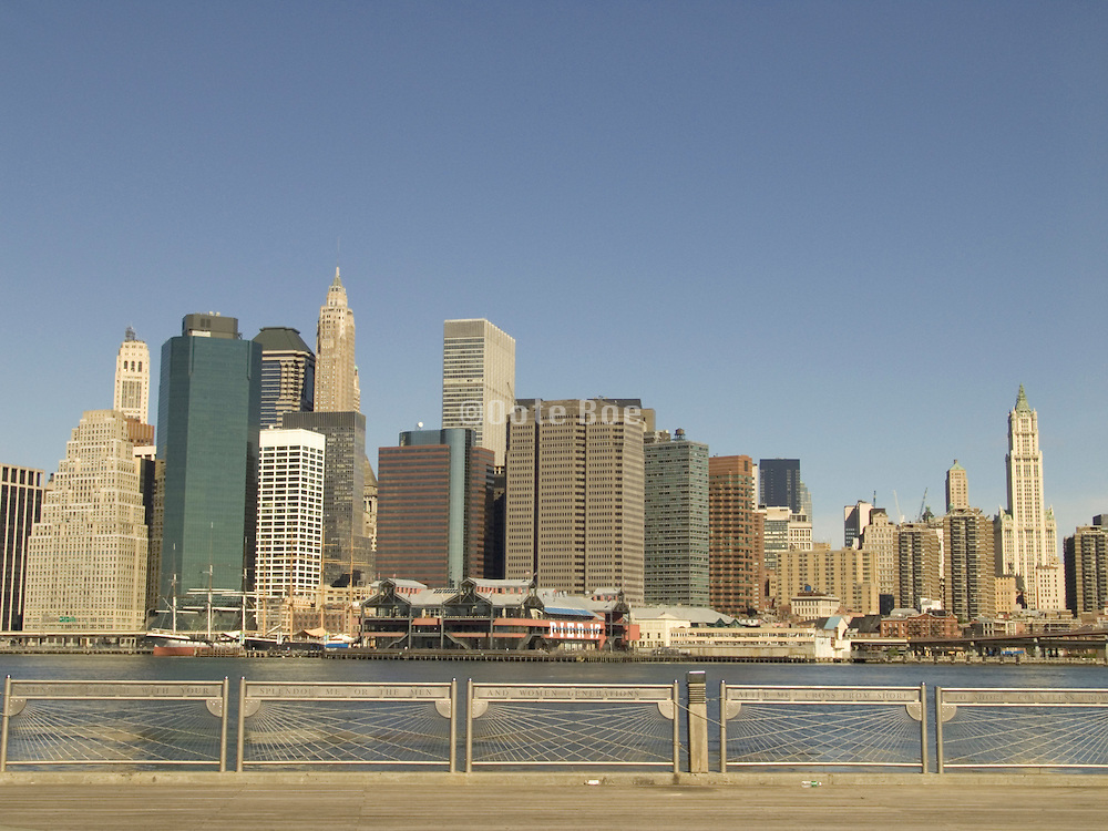 View of downtown Manhattan from downtown Brooklyn