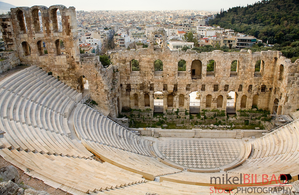 Odeon (theatre) of Herodes Atticus. Acropolis<br /> Athens. Atica. Greece. Europe