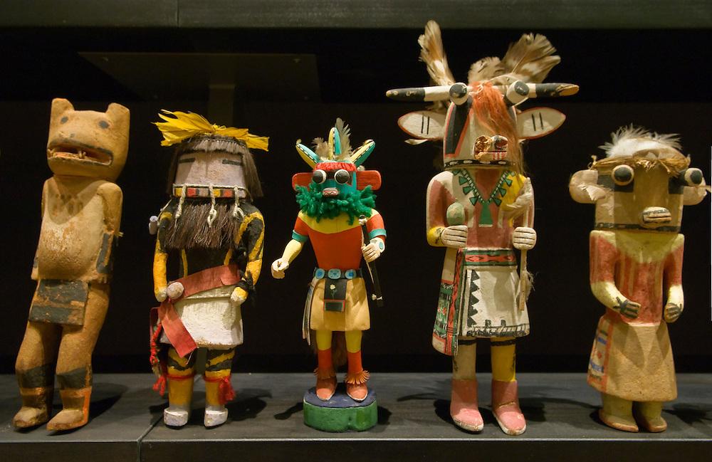Hopi Katsina figures (AKA kachina dolls); Heard Museum, Phoenix, Arizona.