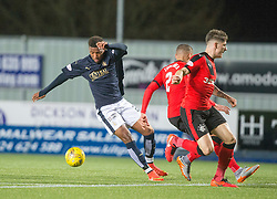 Falkirk's Myles Hippolyte. <br /> Falkirk 3 v 2 Rangers, Scottish Championship game player at The Falkirk Stadium, 18/3/2016.