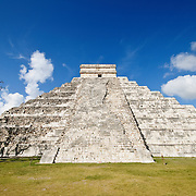 El Castillo (also known as Temple of Kuklcan) at the ancient Mayan ruins at Chichen Itza, Yucatan, Mexico 081216103340_4546.NEF