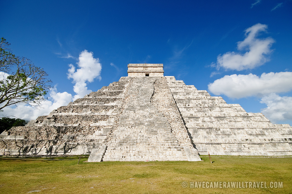El Castillo (also known as Temple of Kuklcan) at the ancient Mayan ruins at Chichen Itza, Yucatan, Mexico 081216103340_4546.NEF