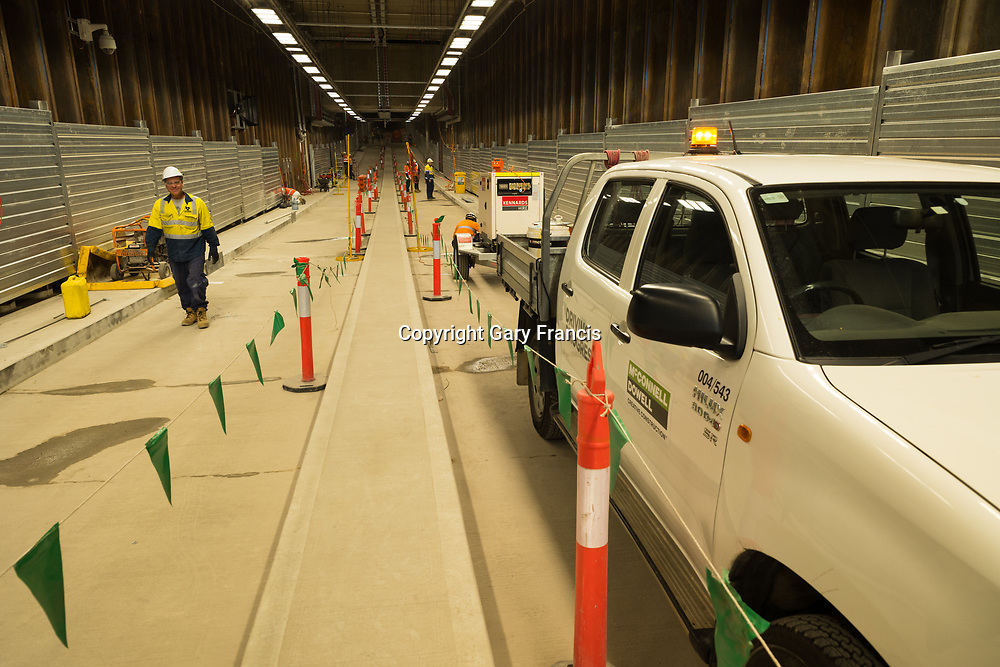 O-Bahn City Access Project construction by MacDow, Adelaide, Australia - images taken in 10 Oct 17
