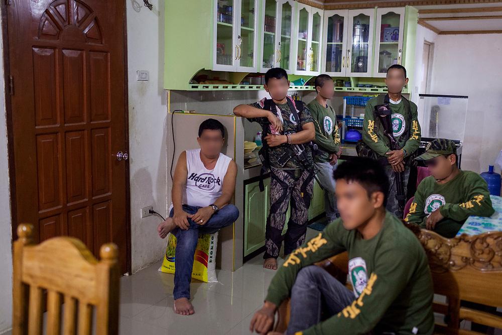 Sarangani Province, Mindanao, Philippines - JUNE 21:  A Portrait of Commander 14, a top Regional Commander  of the Moro Islamic Liberation Front (MILF) in the Sarangani Province.