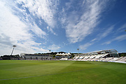 Sunshine at The Ageas Bowl during the Specsavers County Champ Div 1 match between Hampshire County Cricket Club and Surrey County Cricket Club at the Ageas Bowl, Southampton, United Kingdom on 11 June 2018. Picture by Graham Hunt.