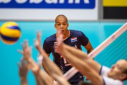 06-09-2018 NED: Netherlands - Argentina, Doetinchem<br /> First match of Gelderland Cup / Nimir Abdelaziz #14 of Netherlands