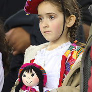 FOXBOROUGH, MASSACHUSETTS - JUNE 12:  A young  Peru supporter during the Brazil Vs Peru Group B match of the Copa America Centenario USA 2016 Tournament at Gillette Stadium on June 12, 2016 in Foxborough, Massachusetts. (Photo by Tim Clayton/Corbis via Getty Images)
